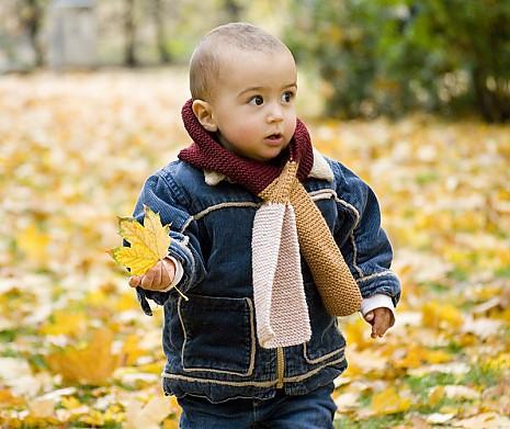 DIY Kindersteckschal Herbstwald
