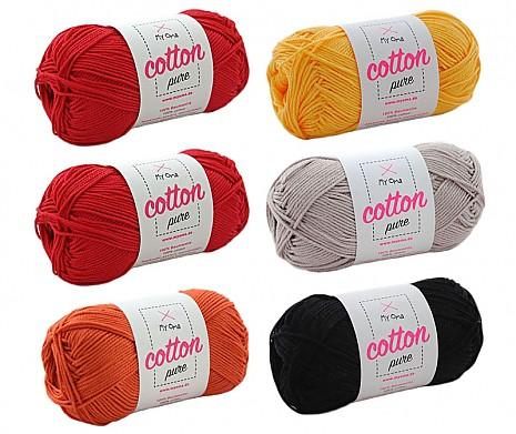 Cotton pure Wollmix Feuerglut