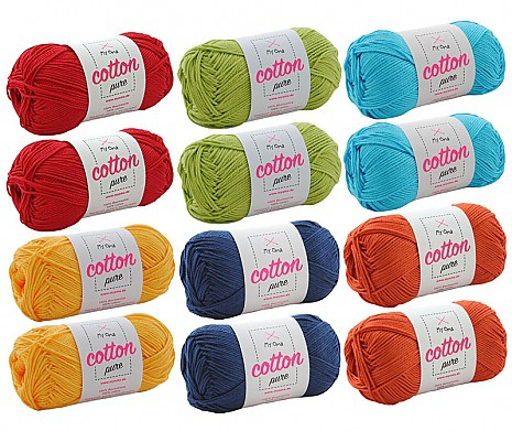 Cotton pure Wollmix Papagei groß