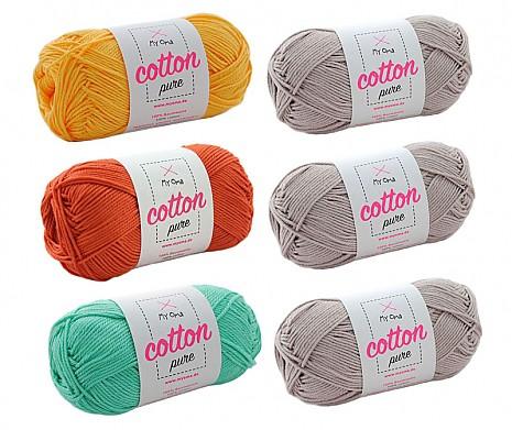 Cotton pure Wollmix Savanne