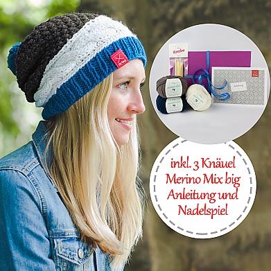Geschenkbox DIY Mütze Dreierlei