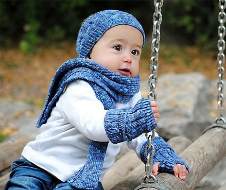 Set Ringelreihen blau Oma Bibi