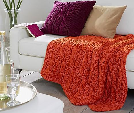 accessoires stricken diy kissen und plaid von myoma. Black Bedroom Furniture Sets. Home Design Ideas