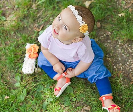 DIY Babyset Orangenblüte