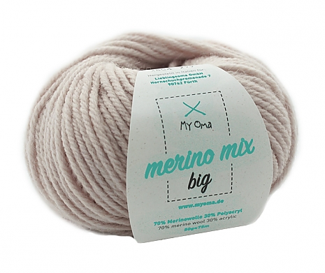 Leinen (Fb 3804) Merino Mix big MyOma