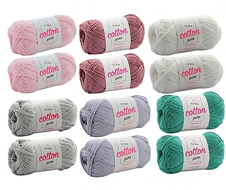Cotton pure Wollmix Pastelltraum