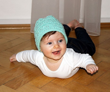 Babymütze Minze Oma Eva