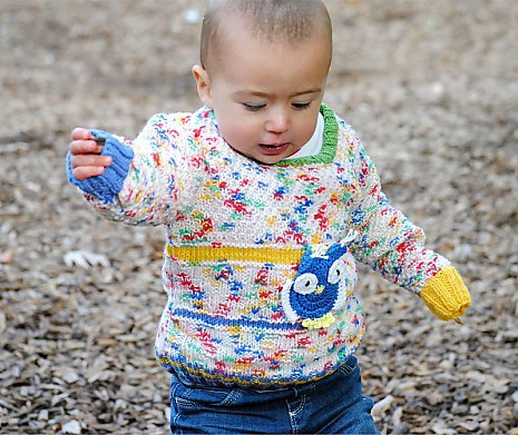 Kinderpullover meliert Oma Nelly