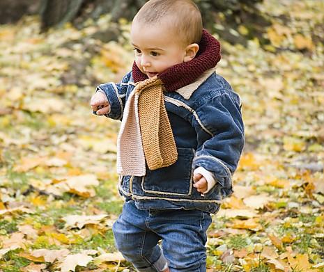 Strickanleitung Kindersteckschal Herbstwald