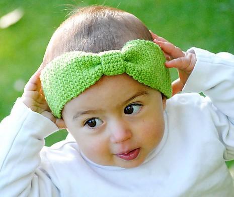 Häkelanleitungen Häkelanleitung Kinderstirnband Schleifchen von MyOma