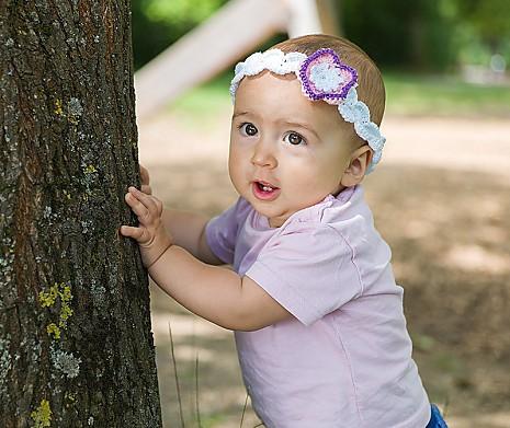 DIY Babyset Fliederblüte