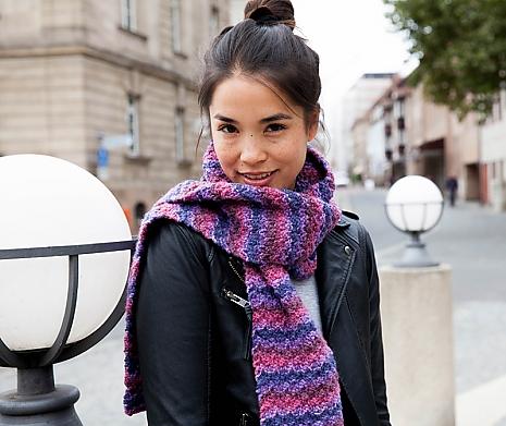 DIY Schal bunt Herbstzeitlos
