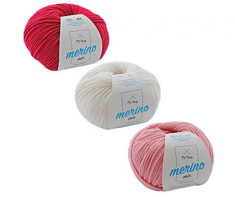 Merino Mix Wollmix Alpenveilchen S