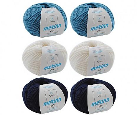 Merino Mix Wollmix Atlantik L