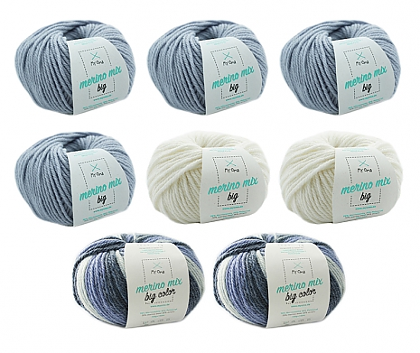 Merino Mix big Wollmix Eisblume L