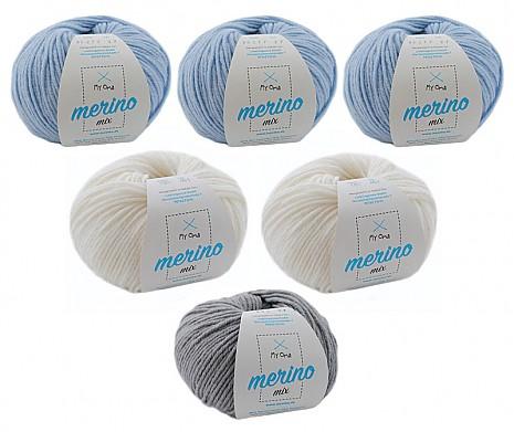Merino Mix Wollmix Eiskristall L