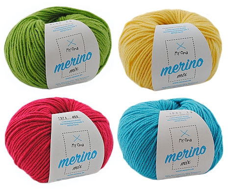 Merino Mix Wollmix Farbenfroh S