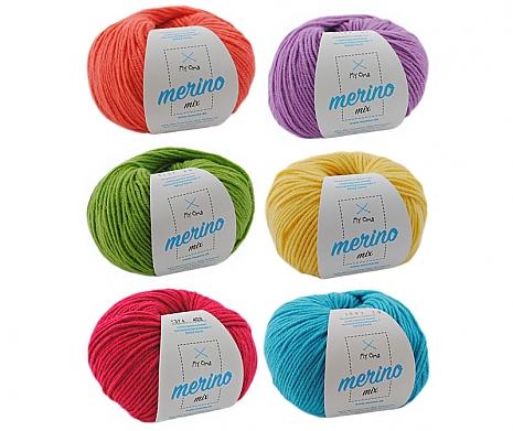 Merino Mix Wollmix Farbenfroh L