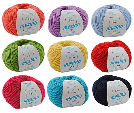 Merino Mix Wollmix Farbenfroh XL