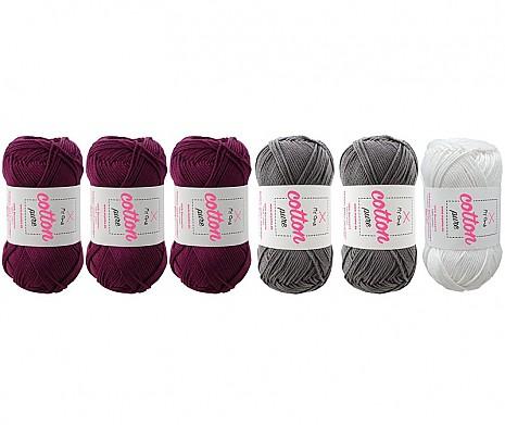 Cotton pure Wollmix Felsenblume