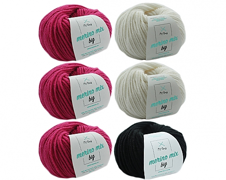 Merino Mix big Wollmix Flamingo S