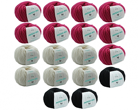 Merino Mix Big Wollmix Flamingo XL