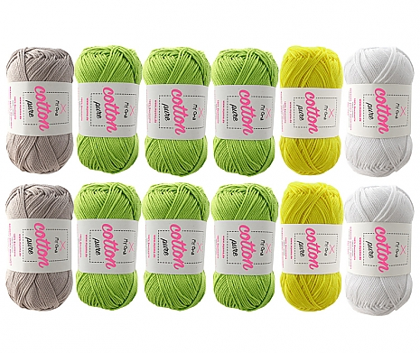 Cotton pure Wollmix Frühlingswiese groß