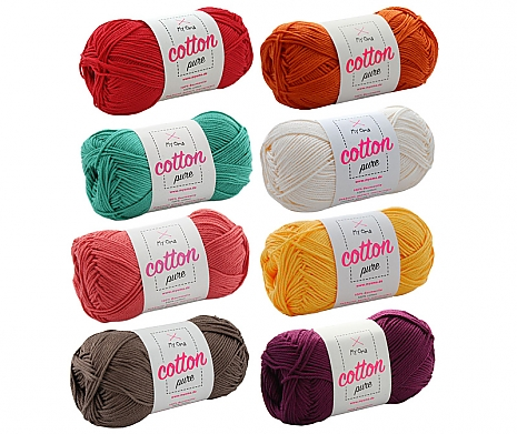 Cotton pure Wollmix Hippie klein
