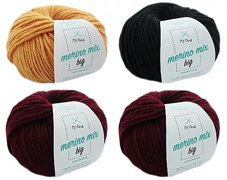 Merino Mix big Wollmix Kaminfeuer S