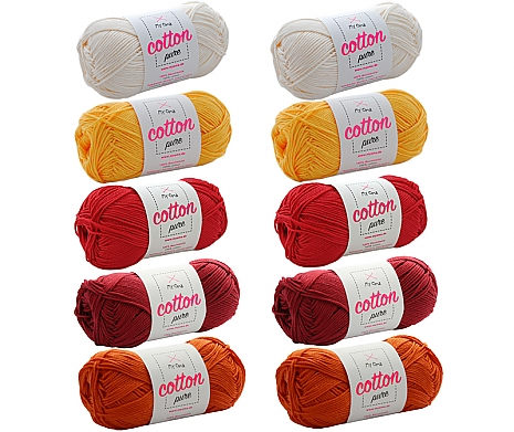 Cotton pure Wollmix Kerzenschein