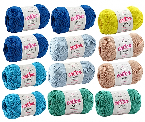 Cotton pure Wollmix Malediven groß