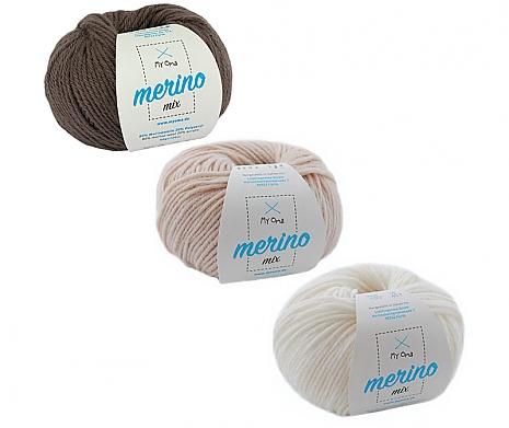 Merino Mix Wollmix Milchkaffee S