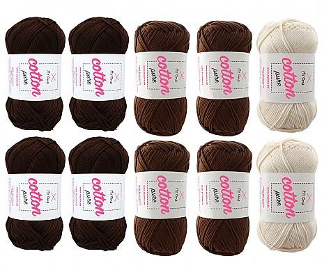 Cotton pure Wollmix Mousse au Chocolat groß