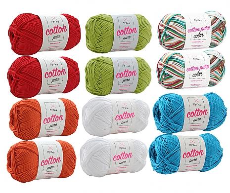 Wollmix Cotton pure Kunterbunt groß