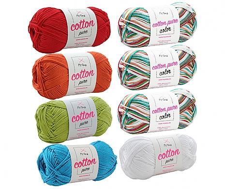 Cotton pure Wollmix Kunterbunt klein