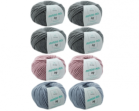 Merino Mix big Wollmix Wintermorgen L