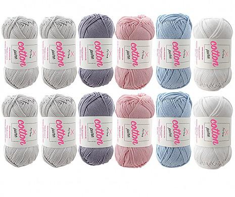 Cotton pure Wollmix Seifenblasen groß