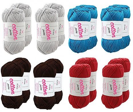 Cotton pure Wollmix Vier Elemente groß