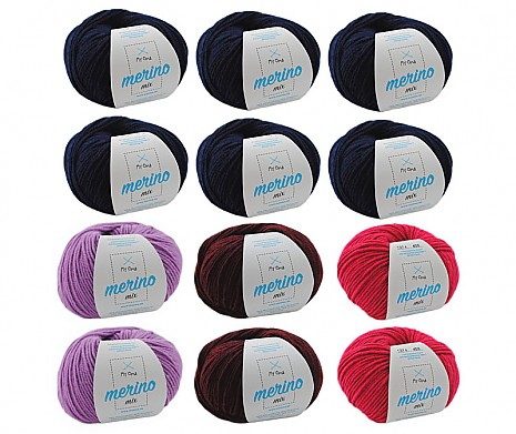 Merino Mix Wollmix Waldbeere XL