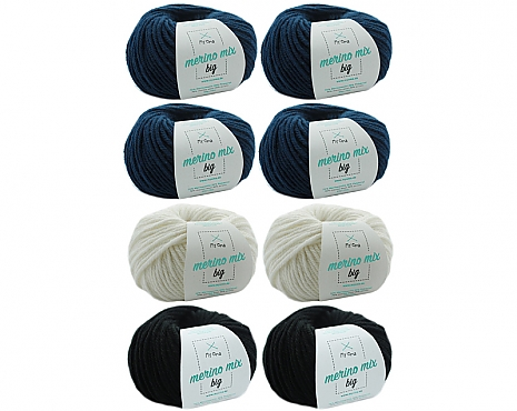 Merino Mix big Wollmix Winternacht L