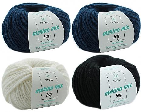 Merino Mix big Wollmix Winternacht S