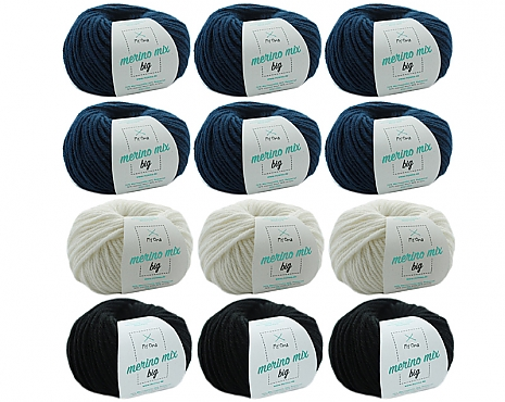 Merino Mix big Wollmix Winternacht XL