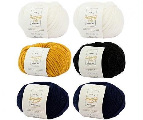 Wollmix Blaue Nacht Happy Wool alpaca Mix