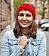 Oma Bibis Turban-Stirnband Größe L | rot