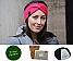 DIY Stirnband gedreht jägergrün (Fb 7440) | ohne Nadeln